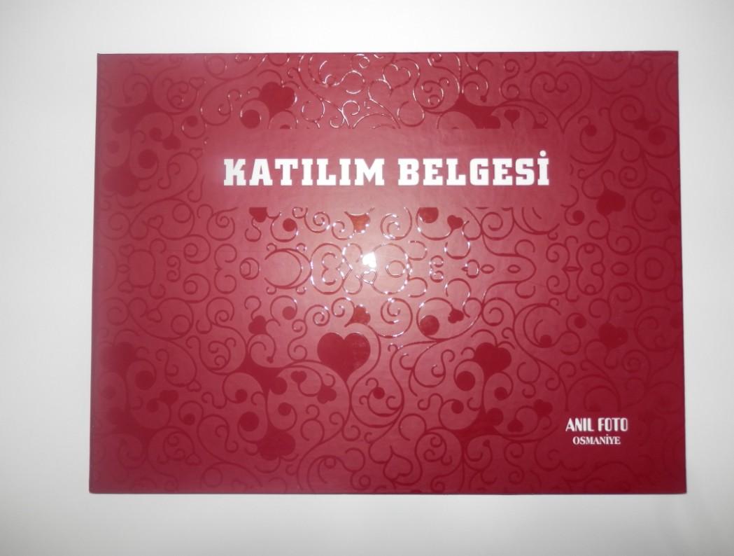 DİPLOMALIK , KATILIM BELGE KILIFI